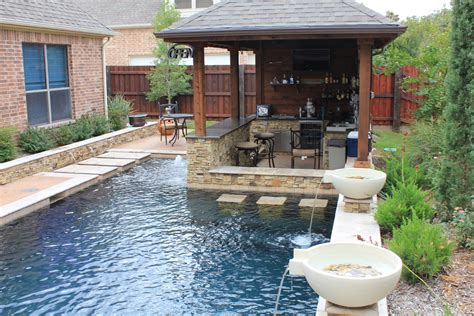 outdoor kitchen designs with pool outdoor kitchen bar pool traditional with none