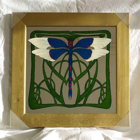 architekt chemnitz 4976 nouveau dragonfly glass painting jugend und