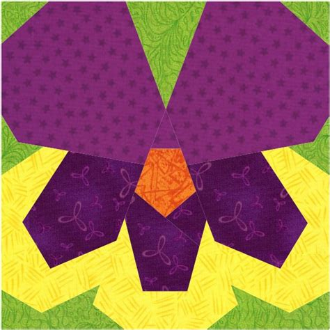paper pieced flower pattern pansy a free paper piecing pattern piece by number