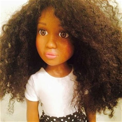 black doll uk black creates black doll with hair to give