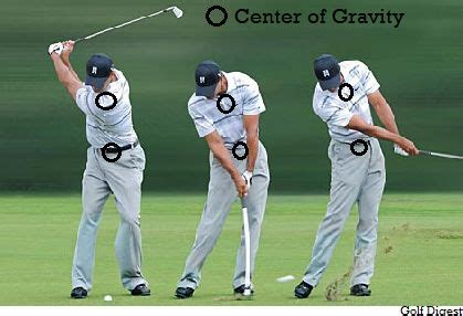 gravity golf swing pulling short irons