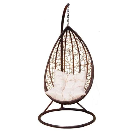 egg swinging chair greenfingers rattan egg swing chair on sale fast