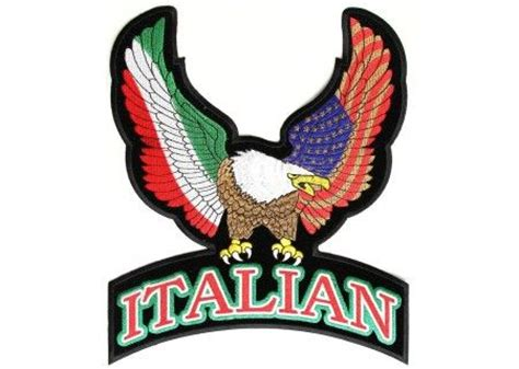 italian american tattoo designs italian eagle patch large vests american flag and leather