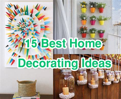 Cheap Home Decor Ideas | 15 easy cheap home decorating ideas improvements lb