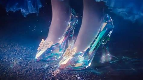 new cinderella glass slipper check out the trailer for disney s new cinderella