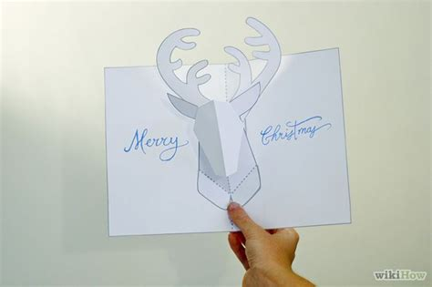 Reindeer Card Template by Make A Reindeer Pop Up Card Robert Sabuda Method