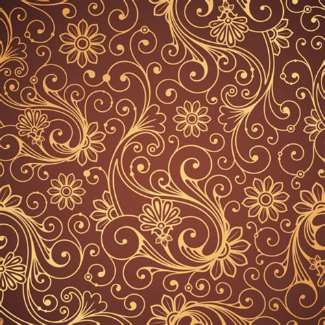 paisley pattern vector download set of brown paisley patterns vector material 05 vector