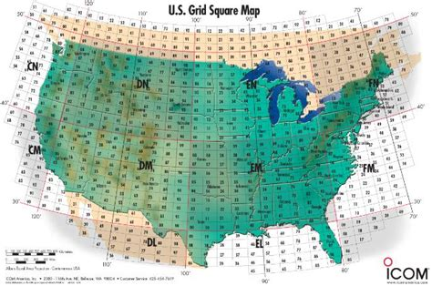 icom us grid square map ham radio resources band plan manuals grid map q signs