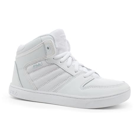 best athletic shoes for boys fila boy s best 2 white high top athletic shoe