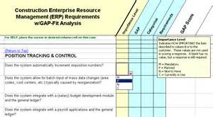 Erp Evaluation Template by Software Evaluation Selection Construction Erp Software