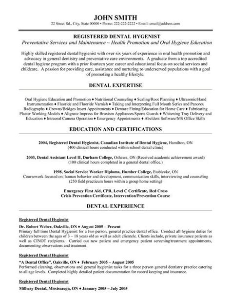 dental assistant resume sles registered dental hygienist resume template premium