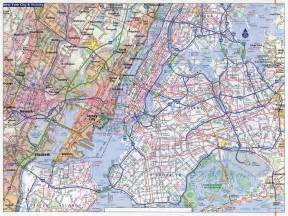 large detailed road map of new york city new york city