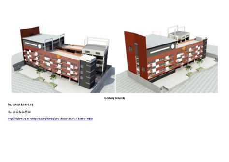 desain gedung sekolah kantor