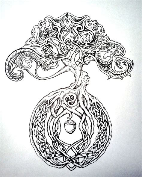 Celtic Tree By Chaotic Rainbow On Deviantart Celtic Tree Tattoos Designs 3
