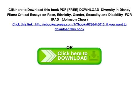 Critical Essays For Free by Pdf Free Diversity In Disney Critical
