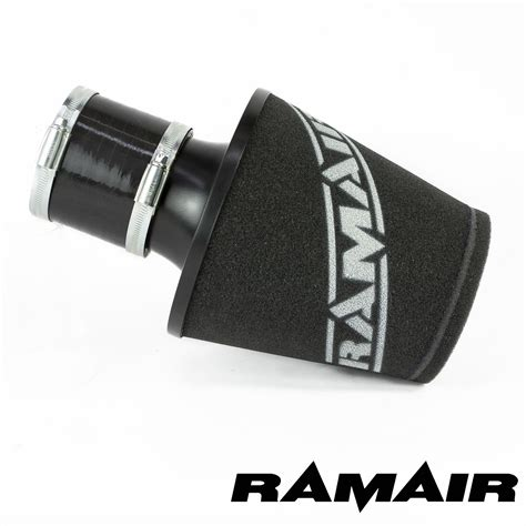 air inductor coupling ramair black aluminium induction air filter universal with 80mm id coupling 163 44 99 picclick uk