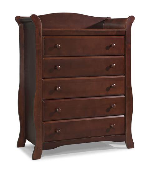 storkcraft avalon 5 drawer dresser cherry