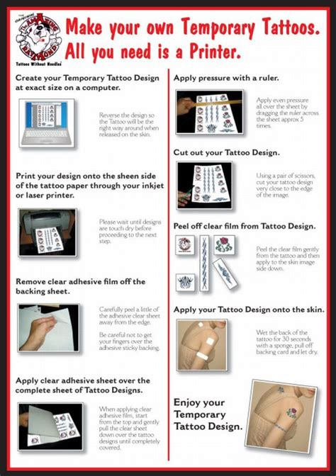How To Make A Paper Home - temporary tattoos australia paper for ink jet or