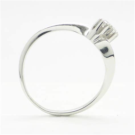 14k white gold ring with 0 18 ct worth of diamonds catawiki