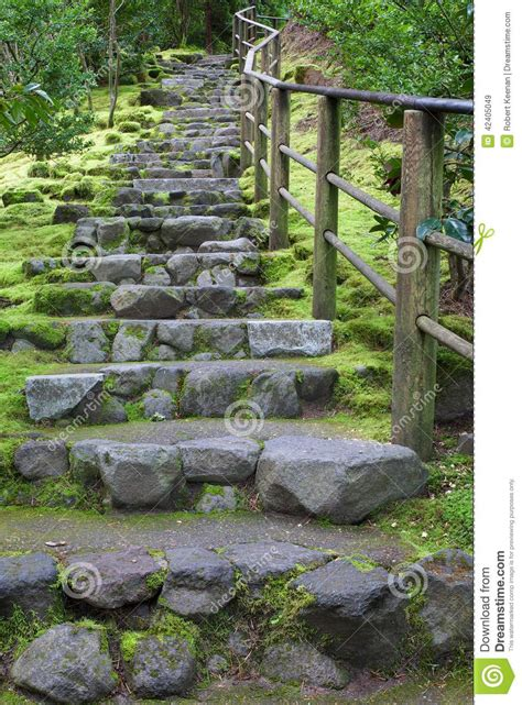 outdoor staircase stock image image of garden step