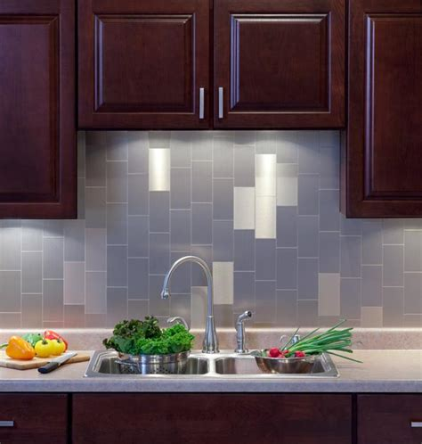 kitchen backsplash stick on tiles aspect stainless steel backsplash interior design ideas