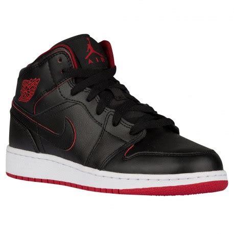 cheap grade school basketball shoes 1 white black aj 1 mid boys grade