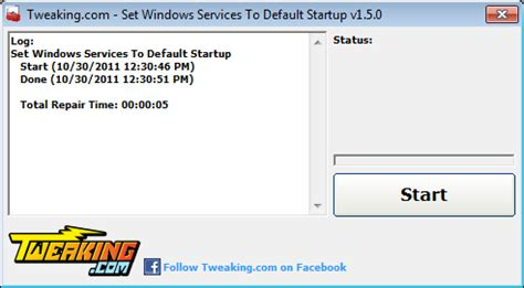 Resetting Windows Services To Default | set windows services to default startup