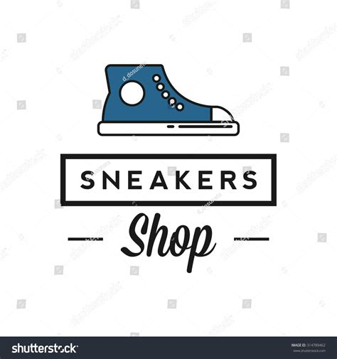 sneaker logo design sneakers shop logo stock vector illustration 314789462