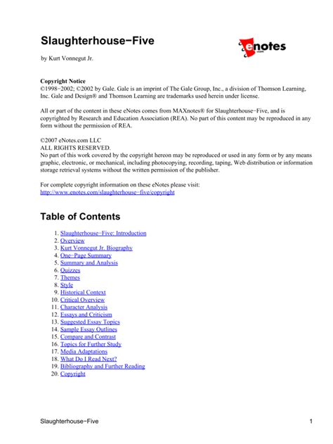 Slaughterhouse Five Essay by Slaughterhouse 5 Essay New Student Reading Project Slaughterhouse Five Cornell Review Kurt
