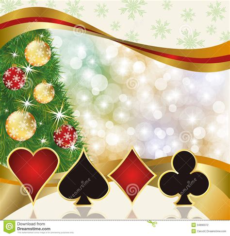 christmas poker casino card stock vector image 34890372