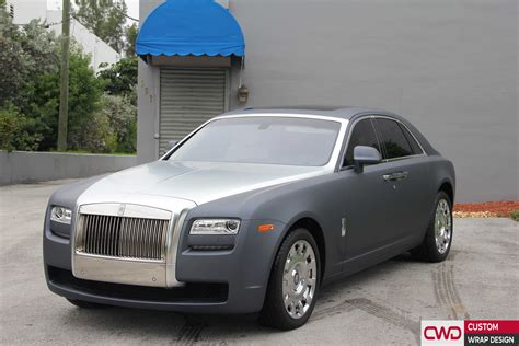 wrapped rolls royce rolls royce ghost gunmetal grey wrap
