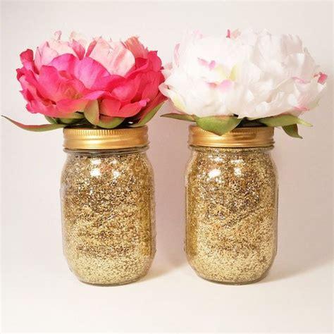 jar centerpieces for bridal shower jar centerpiece wedding centerpiece baby shower centerpiece gold vase decoration