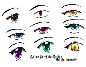 anime eye color design by spriggangirl on deviantart