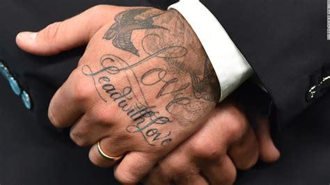 tattoo beckham hand david beckham happy 40th birthday golden balls
