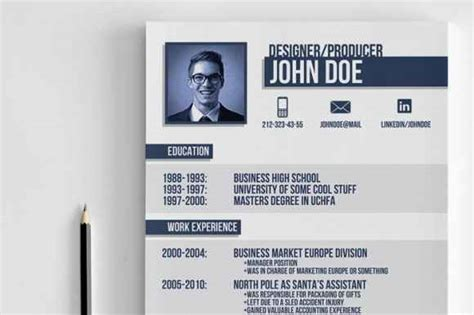 business resume template photoshop 20 professional resume templates to grab attention