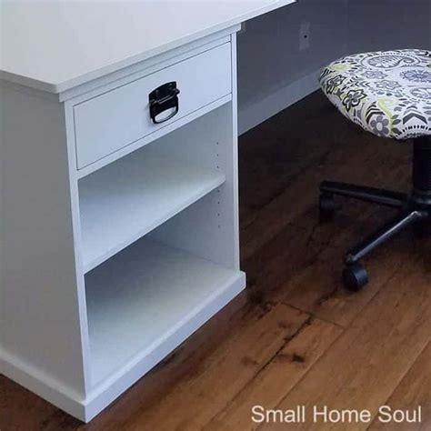 diy l shaped desk diy l shaped desk one room challenge week 4 small home soul