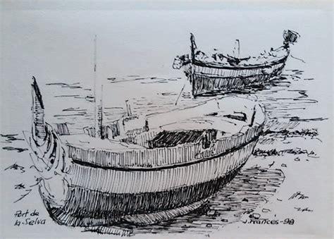 boat drawing ink barcas port de la selva dibujo tinta 2 ink drawing