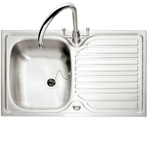 inset stainless steel kitchen sinks caple crane 90 single bowl stainless steel inset kitchen sink
