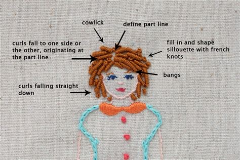 how to do embroidery with how to embroider curly hair abigail cecile