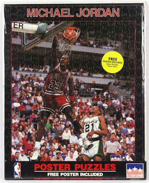 1988 Michael Soaring Starline Poster lot detail 1988 michael chicago bulls 16 quot x 20 quot jigsaw puzzle poster lot of 2