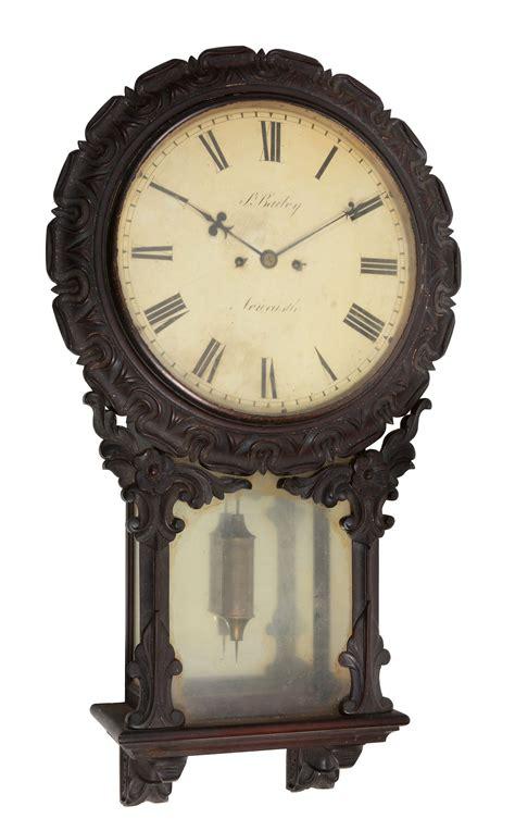 weird wall clocks an unusual victorian carved walnut striking drop dial wall