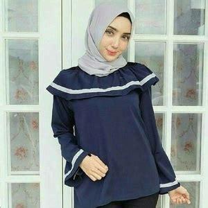 Sabrina Blouse Lengan Panjang Kimi model baju atasan blouse wanita muslim lengan panjang