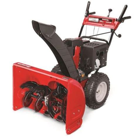 yard machines 28 in two stage electric start gas snow