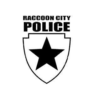 City Bch Skull Butterly Biru Cyan Size S raccoon city decal
