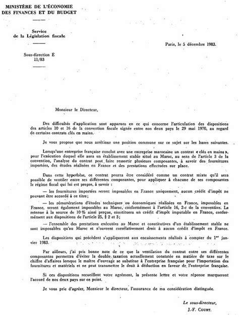 ANNEXE - INT - Échange de lettres des 5 et 14 décembre
