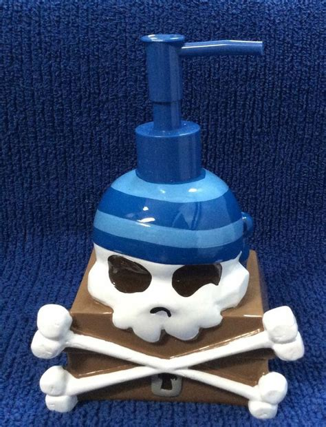 pirate bathroom accessories pirate bathroom decor skull soap dispenser crossbones