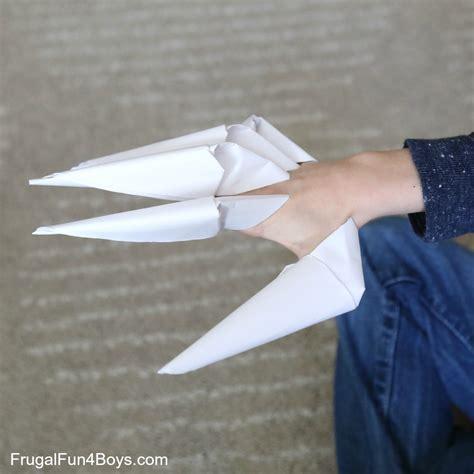 How To Fold Paper Claws - how to fold paper claws