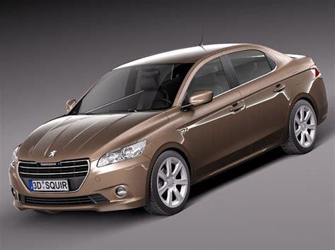 peugeot model 2013 peugeot 301 2013 sedan 3d model