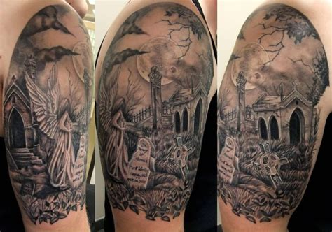 skull graveyard tattoo designs 27 best images about ideas on haunted