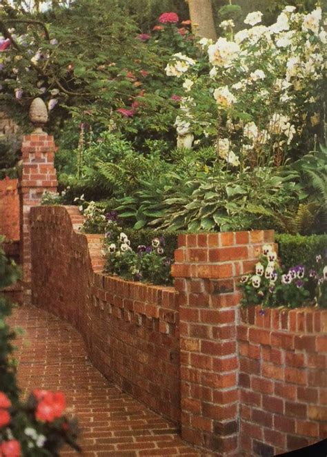 the 25 best brick wall gardens ideas on small